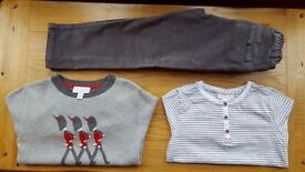 THE LITTLE WHITE COMPANY LONDON - BOYS CLOTHES AGE 4-5 ***LIKE NEW***