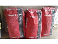 Mortar, hilti firestop cp638, 10 x 20kg bags £50.00each ono,unopened
