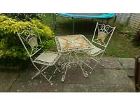 Garden Table And 2 folding chairs only £50