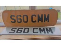 Personalised Car Number Plate S60 CMM (On retention)