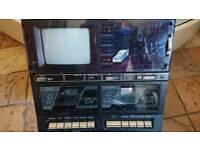 Tv/cassette player n recorder /radio