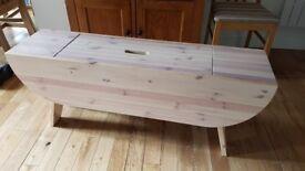Ikea storage bench wooden