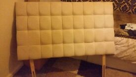 Cream headboard suitable for a doublebed