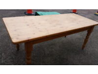 LARGE FARMHOUSE STYLE KITCHEN/DINING TABLE