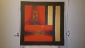 LARGE ABSTRACT ART PAINTING ON CANVAS