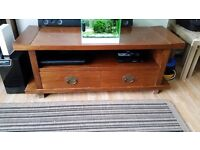 Japanese hardwood table and tv stand ...solid thick build rare but high quality