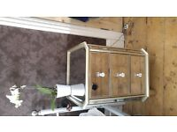 Beautiful mirrored NEXT pair of bedside tables