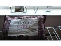 """Home sweet home"" cushion"