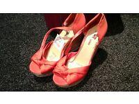 new orange wedge shoes