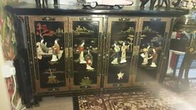 useful and attractive oriental black lacquer furniture