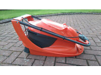 Kirkmuirhill Flymo Hover Vac 280 Corded Collect Mower grass cutter as new