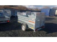 BRAND NEW MODEL 6x4 DOUBLE BROADSIDE TRAILER WITH RAMP 750KG