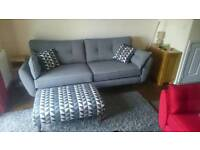 DFS zinc grey French connection 4 seater sofa