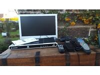 "19"" LCD TV and HD digital recorder"