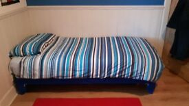 Silent Night single divan bed (child/teenager) + M&S 1250 pocket sprung mattress