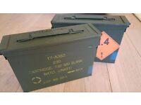 7.62mm Nato Ammo / Cartridge boxes in Green. Watertight / airtight