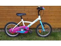 """Girls Bike - BTWIN 16"""" wheels - Suit 4-6 year old - Collection only"""