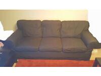Ektorp 3 seater dark grey fabric sofa for Half Price!!!