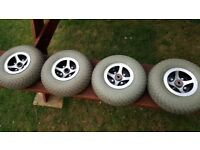 Mobility scooter wheels & tyres