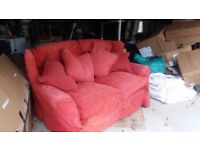 2 seater sofa with fully removable covers.