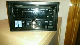Alpine double din stereo Cd mp3 USB aux ipod