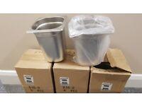 Genware Stainless Steel Tubs