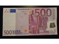 500 EUR banknote Ireland