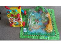 FISHER-PRICE Baby Play Mat/Gym and Vtech First Steps Baby Walker