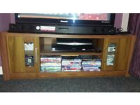 Dark wood TV unit / television stand / cabinet