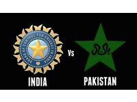 4 X GOLD India V Pakistan ICC Champions Trophy Cricket Tickets