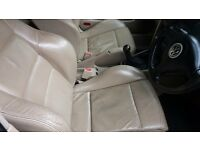 Vw golf mk 4 cream leather heated recaros