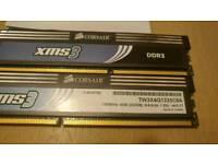 2 x 2gig Corsair XMS DDR3 1600mhz memory
