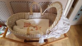 New Mamas and Papas Moses basket and stand