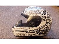 HJC full face motorbike helmet, size large, excellent condition