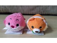 Disney Store Tsum Tsum - Cheshire Cat (Alice in Wonderland), Thomas O'Malley (Aristocats)