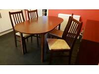 Kitchen/dining room furniture - table & 4 chairs, sideboard and display cabinet/unit