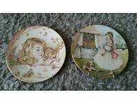 Royal Worcester Mondays Child and Tuesdays Child Plates