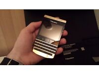 BlackBerry PORSCHE DESIGN P9981/P'9981 24K GOLD PLATED,full pack,VIP,luxury,swap iPhone or Samsung