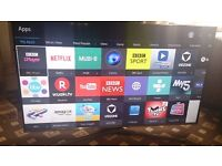 """SAMSUNG 48"""" LED TV SMART/FREEVIEW HD/WIFI/QUAD CORE/MEDIA PLAYER/300HZ AS NEW NO OFFERS"""