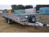 IFOR WILLIAMS TRAILER DROP SIDE FLAT BED PLATFORM RAMPS LM146 FARM MACHINE