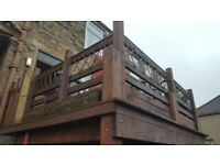 Decking wood structure