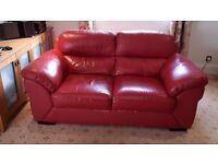 Red 2-seat sofa