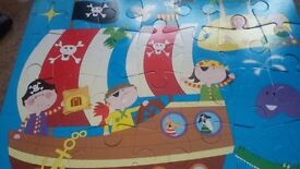Children pirate ship floor puzzle