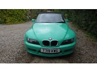 BMW Z3 1.9 Convertible 1999 Green Full Service History LOW MILEAGE