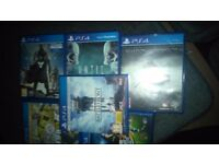 Ps4 with 6 games 1 controller all leads