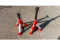 Axles stands rated for 1000kg Tuv approved excellent condition