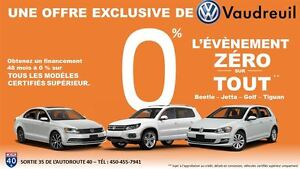 2013 Volkswagen Tiguan Highline R-LINE / CUIR BRUN + 0% / 48 MOI