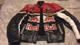 Red bull leather jacket in Large