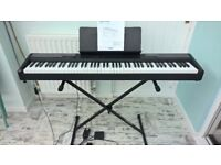 Casio CDP 100 full size electric piano - 88 weighted keys, stand and manual