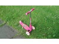 Hudora pink scooter
